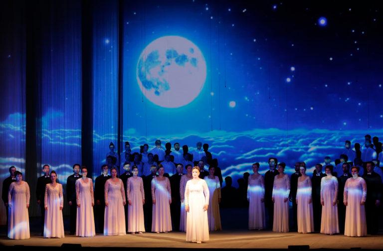 Оригинальный концерт, посвященный 60-летию со дня освоения космоса Юрием Гагариным
